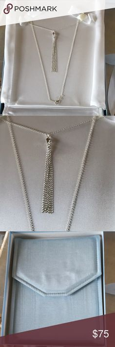 Sterling Silver Necklace Brand new, never worn, sterling silver necklace.  Comes with a beautiful necklace case and box.  This is a wonderful essential piece. Deja & Co. Jewelry Necklaces