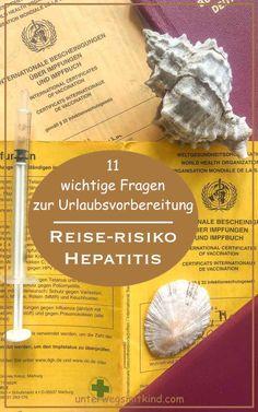 Alle reden über die Covid-Impfung. Aber was ist mit dem Impfschutz vor anderen Infektionskrankheiten zur Reisevorbereitung, etwa Hepatitis? Kaum jemand weiß, dass schon beim Urlaub in Europa ein Risiko für eine Hepatitis Infektion besteht. Was ist Hepatitis? Welche Ursachen und Symptome haben Hepatitis A und B? Wo brauche ich eine Hepatitis Impfung? Antworten auf die 11 wichtigsten Fragen rund um den Hepatitis-Schutz zur Reisevorbereitung Reisen In Europa, Happiness, Happy, Travel, Holiday Travel, Travel Photography, Traveling With Children, Viajes, Bonheur
