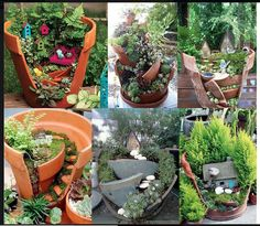 Now that John broke my large terra cotta planter, maybe I can give this a try.