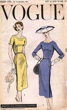 Vogue 8832 Dress 50s Sz16/34 uncut FF bin 54.99+2.25