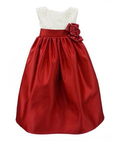Another great find on #zulily! Red & Ivory Carol Dress - Toddler & Girls by Dorissa #zulilyfinds