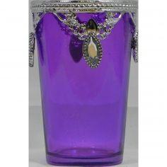 Ethnic Candle Holder Purple
