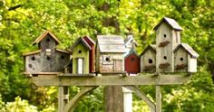 There are many beautiful suggestions to develop decorative bird houses for your garden. These stand bird house come in assorted sizes, colours, and shapes. Birdhouse Designs, Decorative Bird Houses, Garden Features, Garden Trellis, Miniature Fairy Gardens, Fairy Houses, Porch Decorating, Decorating Ideas, Creative Home