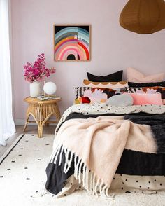 Oh Happy Home! Cotton Berber Going Dotty Black Washable Area Rug Kids Bedroom, Bedroom Decor, Bedroom Signs, Decorating Bedrooms, Master Bedrooms, Bedroom Ideas, Play Beds, Washable Area Rugs, The Design Files
