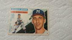 1956 Topps Warren Spahn single baseball card