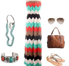 Wine Tasting Outfit. Chevron Maxi. Turquoise. Cowgirl ...