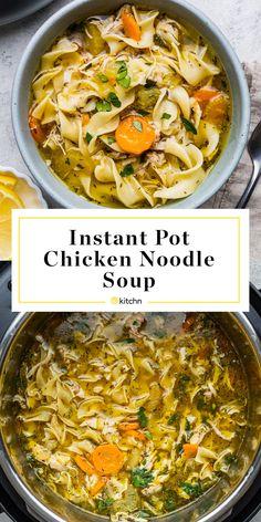 Instant Pot Chicken Noodle Soup Is a Dinner Winner - Instant Pot Recipes Crockpot Recipes, Soup Recipes, Chicken Recipes, Cooking Recipes, Ninja Recipes, Hamburger Recipes, Recipe Chicken, Vegetarian Cooking, Soups