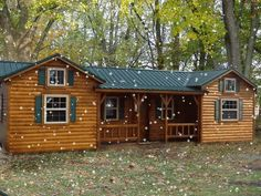 Cumberland Log Cabin Kit from $16,350 This could be the starter home on the starter homestead!