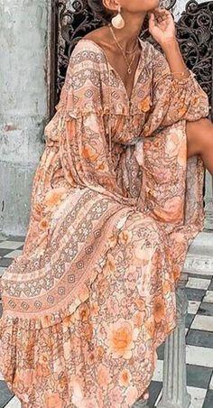 Floryday Vestidos, Vestidos Color Rosa, Tribal Dress, Boho Dress, Floral Maxi Dress, Vestidos Vintage, Vintage Dresses, Shift Dresses, Dresses Dresses