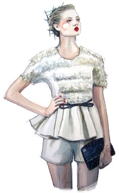 lindsey wixon in jason wu illustrated.