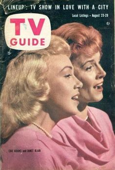 August 23-29, 1958 ~ TV Guide Magazine:  Edie Adams & Janet Blair (I was less than 2 wks old)