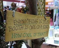 craft booth display ideas | Bring a small waste/garbage can!! Carmen from Beyond the Fringe ...