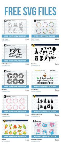 New Free SVG Cutting Files