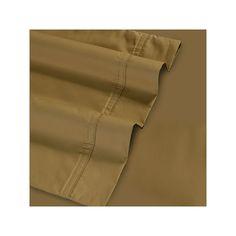 Egyptian Cotton 500 Thread Count Fitted Sheet, Beig/Green Cal King (Beig/Khaki)