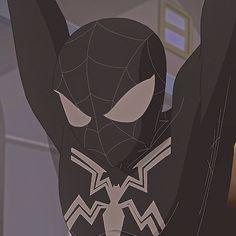 Spiderman Black Suit, Mundo Marvel, Spectacular Spider Man, Man Icon, Comic Movies, Red Hood, Amazing Spiderman, Profile Photo, Marvel Comics