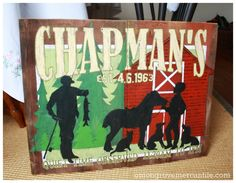 50th Anniversary Gift, Commissioned Handpainted sign via Onion Grove Mercantile