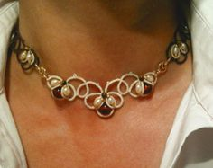 Tatted set con perle di acqua dolce di CorinaMeyfeldt su Etsy