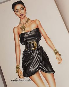 Fashion design inspiration sketches art illustrations Ideas for 2019 – Fashion Models Dress Design Sketches, Fashion Design Sketchbook, Fashion Design Drawings, Fashion Design Illustrations, Dress Illustration, Fashion Illustration Dresses, Moda Fashion, Fashion Art, Fashion Models
