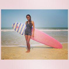 surfishita/Ishita Malviya  Love her new Roxy board #BeyondTheSurface Film Project. See more on the Roxy blog