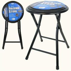 18 Inch Cushioned Folding Stool with Safety Lock by dealz4real. $17.95. Looking for an inexpensive way to add seats without taking up a lot of room or wasting money on renting? Well this 18 inch cushioned stool is the way to go! Measures 14 x 15 x 18 inches opened and folds down to 12.5 x 29 x 2 inches (length x width x height).. Save 28% Off!