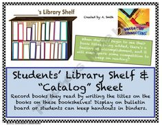 Record Library Titles on Student's Library Shelf product from Innovative-Connections on TeachersNotebook.com