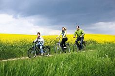 Family business #cycling #bicycle #bike #family #beauty #fields #sky #weather
