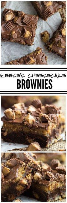 Reese's Cheesecake Brownies   Tastefulonly