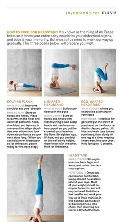 how to prep for a headstand before I make a fool of myself in a yoga class lol