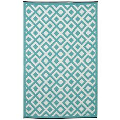 Fab Rugs World Marina Eggshell Blue Indoor/Outdoor Area Rug