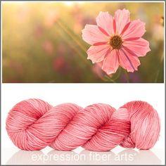 Expression Fiber Arts, Inc. - PINK COSMOS SUPERWASH DEWY DK yarn - dusky rose/coral semi-solid, $23.00 (http://www.expressionfiberarts.com/products/pink-cosmos-superwash-dewy-dk.html)