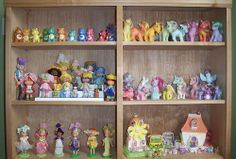 Care Bears, My Little Pony, Strawberry Shortcake, Rose Petal and whatever those little charm dolls were called - loved it all!