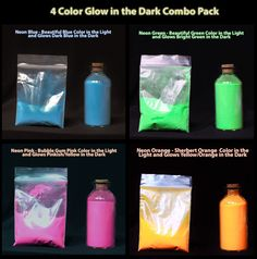 The BRIGHTEST GLOW in the DARK Powder 4 Colors by SpecialtyPowders