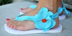 Upcycle your old cheap flip flops - a few great tutorials in here!