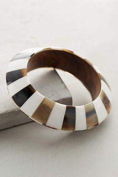 Checkered Horn Bangle - anthropologie.com #anthrofave