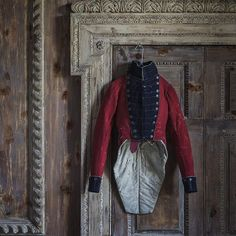 """holdhard: """"  Cheshire Militia tailcoat. Hawkes, c. 1830. This is the earliest uniform held in the archives of Gieves & Hawkes """""""