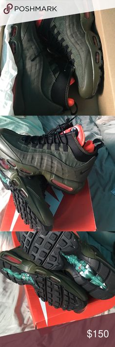 super popular 707dd fe19a AirMax 95 sneaker boot Worn once fly shoe. A men s Nike Shoes Athletic Shoes