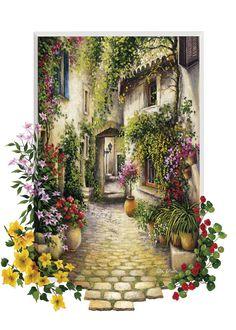 Art Puzzle Çiçekli Ara Sokak 500 Parça (Art Puzzle 2015 Modeli) #puzzle #puzzledepo #yapboz #artpuzzle