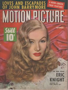 938cfa630f6c2 Veronica Lake on Motion Picture for September 1942 Victory Rolls