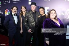 74th ANNUAL GOLDEN GLOBE AWARDS -- Pictured: (l-r) Actors Milo Ventimiglia, Mandy Moore, Chris Sullivan, Susan Kelechi Watson and Chrissy Metz pose during the Universal, NBC, Focus Features, E! Entertainment Golden Globes After Party Sponsored by Chrysler held at the Beverly Hilton Hotel on January 8, 2017.