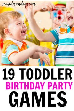 Birthday party activities for 2 year olds! These toddler birthday party games are fantastic if you are wondering how to entertain toddlers at a birthd Toddler Birthday Party Games, 2 Year Old Birthday Party Girl, Birthday Activities, Party Activities, Boy Birthday Parties, 19 Birthday, Party Games For Toddlers, Toddler Party Ideas, Kids Party Games Indoor