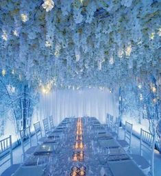 Blue Wedding Flowers 5 Wedding Flower Design Ideas from Celebrity Designer Preston Bailey - Go Monotone from Wedding Flower Design, Wedding Flower Arrangements, Wedding Designs, Wedding Bouquets, Wedding Flowers, Blue Flower Arrangements, Top Flowers, Table Arrangements, White Flowers