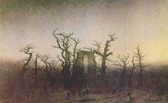 Caspar David Friedrich, L'Abbaye dans une forêt de chênes
