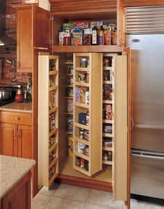 I so want to do this to my pantry, I just have to find someone to build it for me.