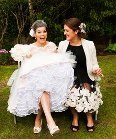 Simon and Alison's Back Garden Wedding | Confetti