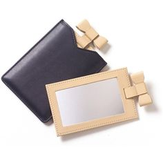 Leather compact mirror- PERSONALIZED!