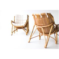 Amazing set of lounge chairs labeled Laurids Lonborg. I'm not sure if this is the manufacturer or designer. Any help would be awesome. Photography @addisonjonesphotography. Availabe here: http://theswankyabode.com/collections/seating/products/danish-bamboo-and-wicker-lounge-chairs-by-laurids-lonborg-01241602