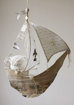 ship~interesting... Love Ann Wood's original personable owls....