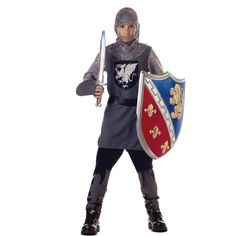 Looking for Kids Medieval Knight Costume - Valiant Knight Party Supplies? We can connect you with valiant knight costume, king arthur, medieval costume, boys knight costume, kids renaissance fair costume Medieval Knight Costume, Renaissance Costume, Medieval Party, Medieval Dress, Medieval Clothing, Renaissance Fair, Boy Costumes, Halloween Costumes For Kids, Costume Ideas