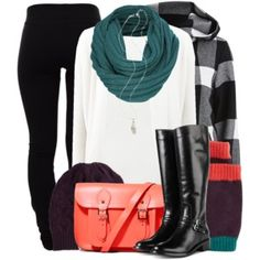 Black & White with Colored Accessories