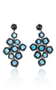 Ippolita Wicked Blue Topaz Cascade Earrings, $3995